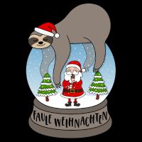 Faultier Schneekugel Faule Weihnachten Santa Keks