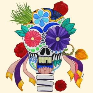 Crâne Mexicain de la Fête des Morts
