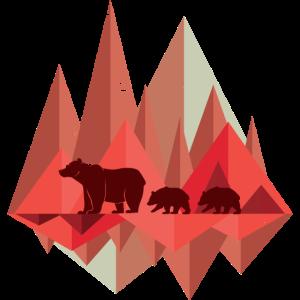 Geometrische Berge | Natur Bär Wald Wildnis Tiere