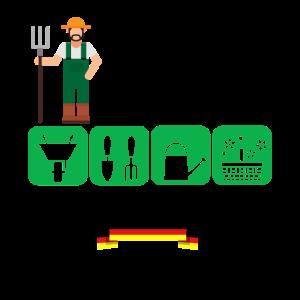 Gärtner Rasenmäher Garten Hobby Gießkanne Geschenk