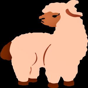 Bissiges Lama
