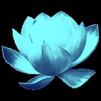 Lotusblume Ozeeanblau
