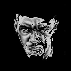 afroamerikaner schwarzer mann gesicht geschenk