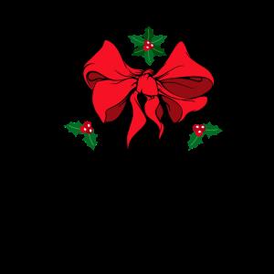 Weihnachten Schleife Mistelzweig