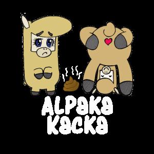 Lustiges Alpaka Kacka Lama Geschenk