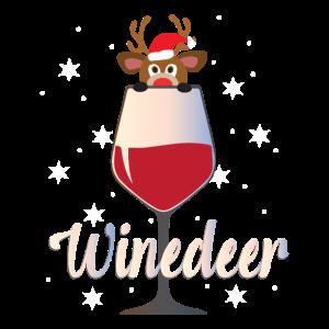 Winedeer Wein Rentier Familien Weihnachtsgeschenk