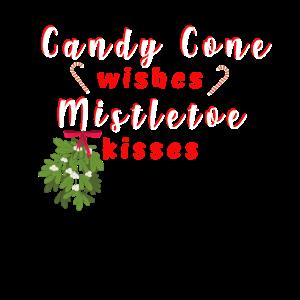 Candy Cone und Mistelzweig-Weihnachtshemd