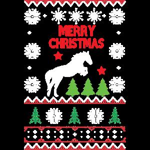 Pferd und Weihnachtsferien Geschenk Shirt
