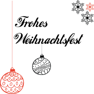 Frohes Weihnachtsfest - Weihnachtskugeln - Schmuck