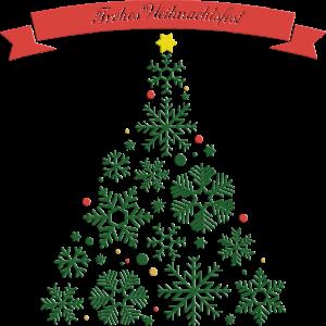 Frohes Weihnachtfest Tannebaum aus Sternen