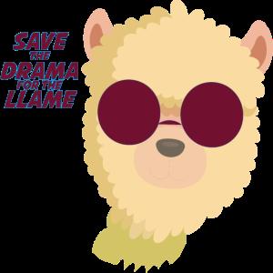 Alpaka Drama - llama - Brille
