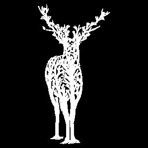 Hirsch Wild Bäume Cooles Design