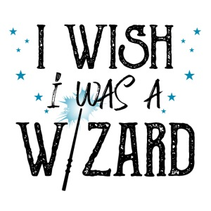 I Wish I Was A Wizard - Black