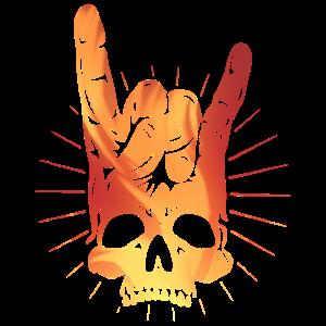 Rocking Hand Totenkopf Skullbones
