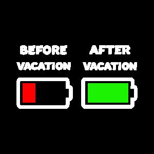 Vor dem Urlaub Nach dem Urlaub