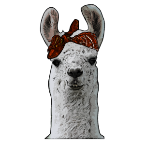 Entzückender Gangster-Bandana-Lama-Verbrecher-Lama