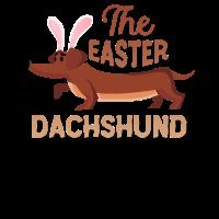 Dackel-Ostern-Kleinkind-Ostern-Hundekinder