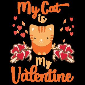 Meine Katze ist meine Neuheit Haustiere zum Valentinstag