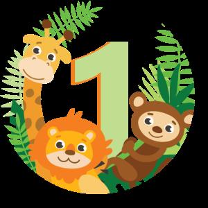 Erster Geburtstag Dschungel Tiere