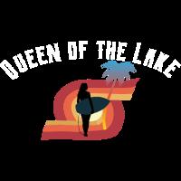 Queen of the lake Surfboard Wassersport Motiv