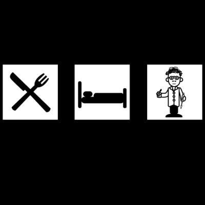 eat sleep science 001 - eat sleep science - wissenschaftler,sleep,science,laborant,eat,big bang,Wissenschaft,TA,Sheldon,Post Doc