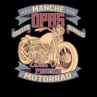 Echte Opas Farhen Motorrad