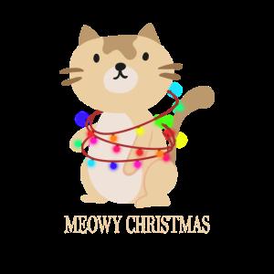 Katze Kätzchen Lichterkette Weihnachtsgeschenk