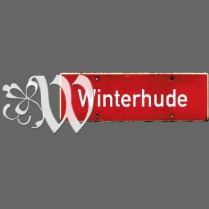 HAMBURG Winterhude Ortsschild Tattoo Initial