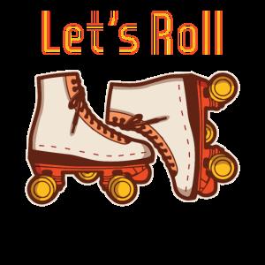 Lustig Rollerblades Roller Skates Vintage Geschenk