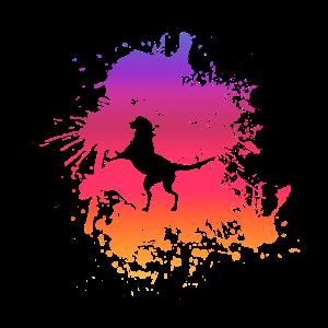 Hund Splash Watercolor Regenbogen