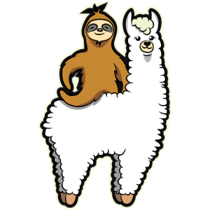 Lustig Lama Reiten Faultier Süße Tiere Geschenk