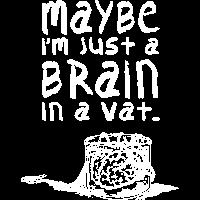 Gehirn im Tank 2 weiss
