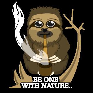 Sei eins mit der Natur, Faultier