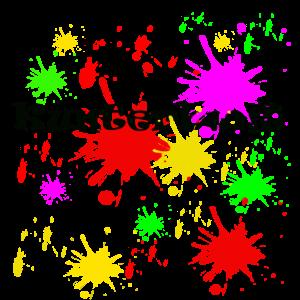 Kunterbunte Farbkleckse,malerei
