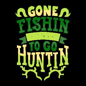 Fischen und Jagen am See und Wald Geschenk T-Shirt