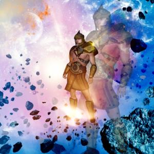 Kämpfer im Universum