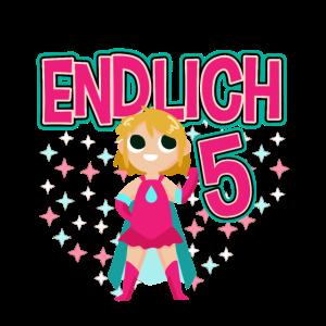 Geburtstag 5 Jahre alt 2014 geboren Mädchen Kinder