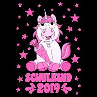 Einschulung Schule Einhorn Schulkind 2019 Lachen