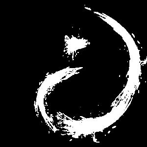 Yin Yang Kreise Symbol Buerste Schwarz Weiss