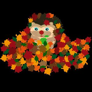 Herbst Igel Farbenfroh Laub Drachen Geschenkidee