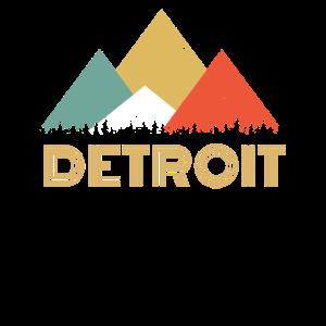 Retro Stadt von Detroit Mountain Shirt