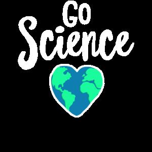 Gehen Sie Wissenschaft - lustiges Tag der Erde-Hemd - bereiten Sie auf