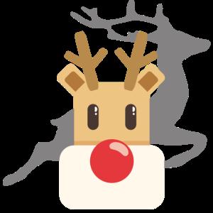 Rentier süß Weihnachten Geschenk