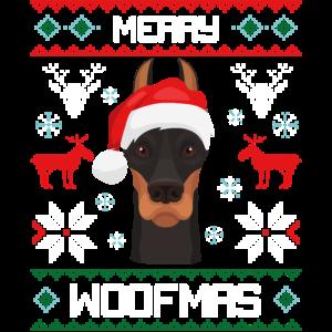 Merry Woofmas Dobermann Dog Ugly Sweater
