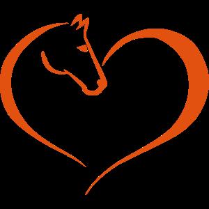 Pferd Herz Tatoo - Reiten, Pferdekopf, Voltigieren