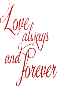Valentinstag Shirt: love always and forever