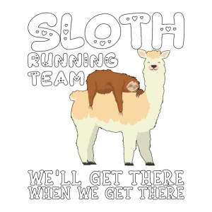 Lama Faultier Running Team Sarkasmus Sarkastisch