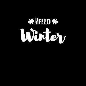 Hello Winter Schneeflocke Eis Geschenk Weihnachten