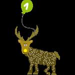 Cooles Rentier mit Luftballon zum 1. Geburtstag
