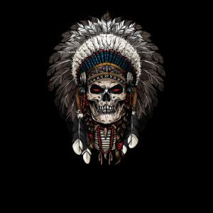 Indian Warrior Skull Head Kleid